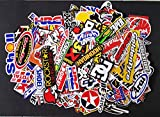 120 Pcs Racing Stickers Pack Car Vintage Rare Sponsor Decal Original Motocross Motorcycle