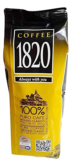 Cafe 1820 Costa Rican Coffee (250 gr) bundled with Sibu Mint Costa Rican Gourmet Hot Chocolate Mix (200 gr) Award-winning 78% Cacao (2 items): Amazon.com: ...