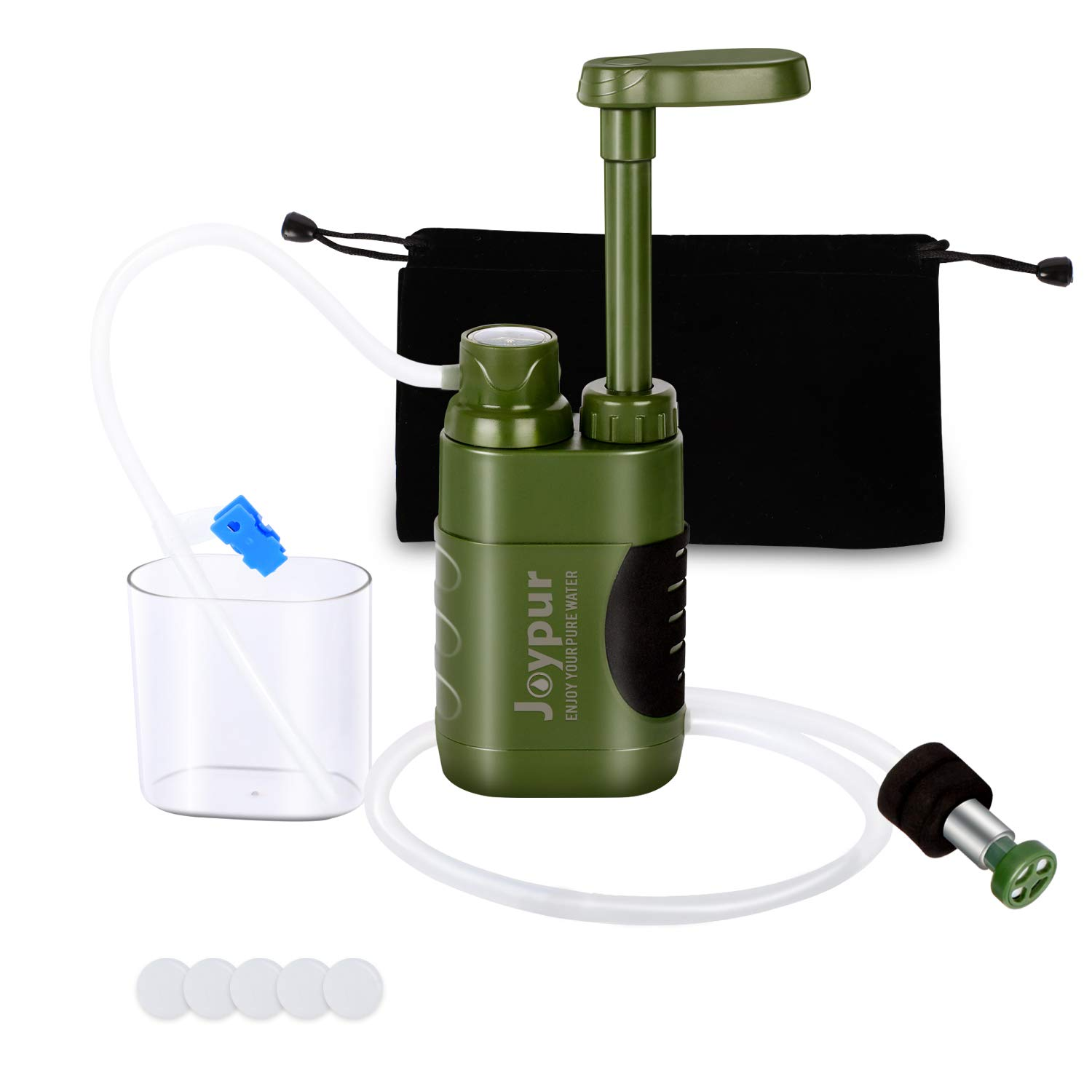 joypur Portable Outdoor Water Purifier Camping 0.01 Micron Emergency Backpacking Water Filter for Hiking with 3-Stage Filter Pump by joypur