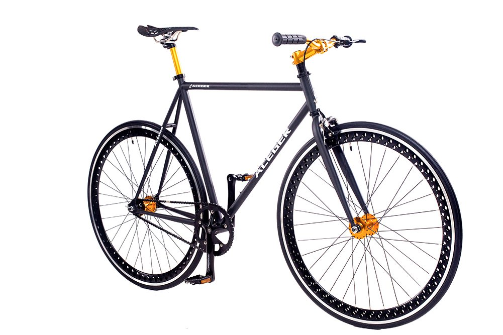 aceger single speed fixed gear hollowed rim urban commuter. Black Bedroom Furniture Sets. Home Design Ideas