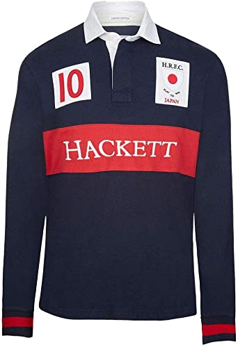 Hackett Japan Rugby Polo, Azul (Navy 595), Medium para Hombre ...