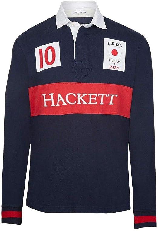 Hackett Japan Rugby Polo, Azul (Navy 595), Medium para Hombre ...