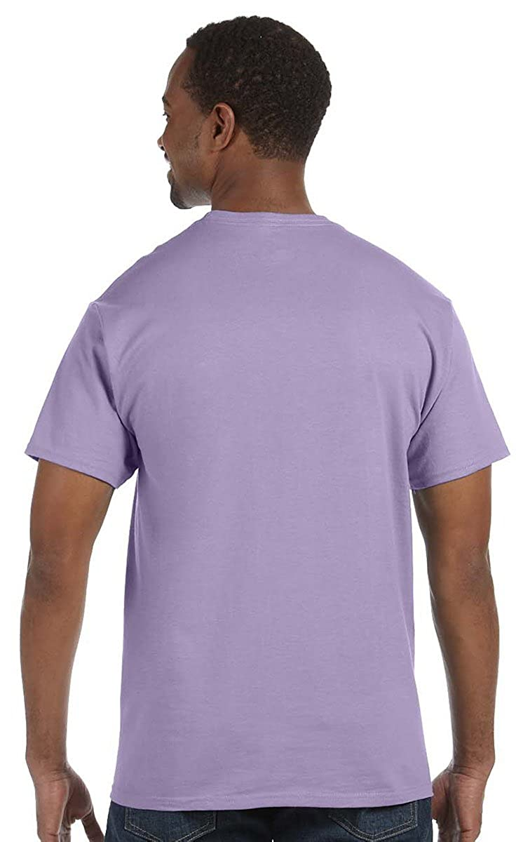 Hanes Ultimate Tagless Double-Needle Crewneck T-Shirt Black