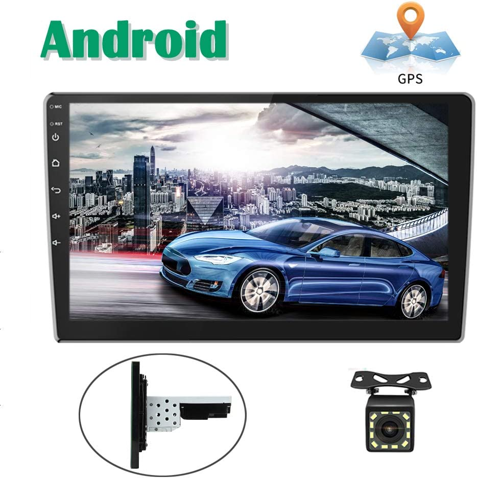 Android Coche Radio GPS CAMECHO 10 Pulgadas Pantalla táctil Completa Bluetooth WiFi Receptor FM Teléfono móvil Espejo Enlace Dual USB + Cámara Trasera: Amazon.es: Electrónica
