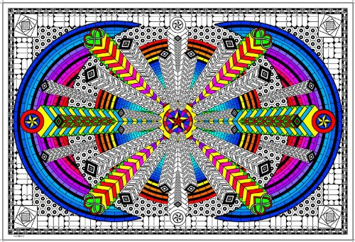 (Stuff2Color Burst of Energy - Giant Coloring Poster - 32