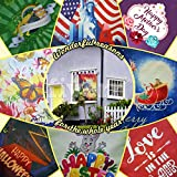 SEASONAL GARDEN FLAGS FOR OUTDOOR DECORATION SET OF 10 20×30 inch