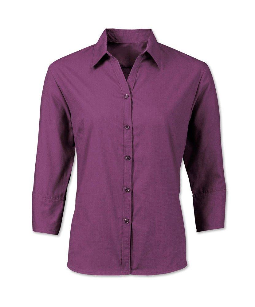 Alexandra Workwear Womens Woven Colour 3/4 Sleeved Shirt Amethyst 18