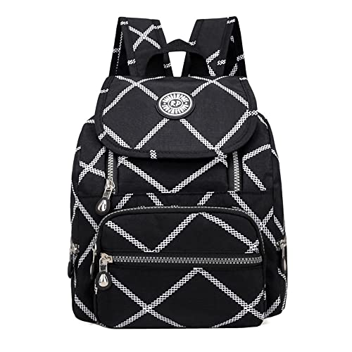 Casual Mini Waterproof Nylon Backpack Purse for Women Girl Small Lightweight  Daypack (Large square) 78f4972aed286