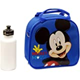 Disney Mickey Mouse Lunch Box Bag with Shoulder Strap and Water Bottle (1) by Unknown