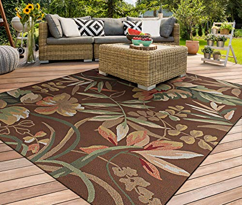 Couristan 2166/8066 Covington Boca Retreat 2-Feet 6-Inch by 8-Feet 6-Inch Rug, Light Cocoa and Fern