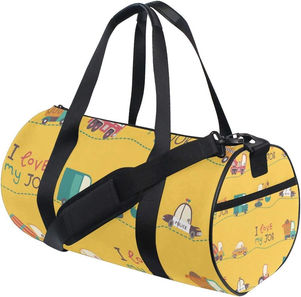 MALPLENA I Love My Job Drum gym duffel bag women Travel Bag