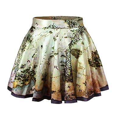 3d821d2c59 Minifalda Mujer Cortas Elegante Sencillos Diario Verano Elasticos Cintura  Alta Vintage Impresión Floral Faldas Casual Moda Woman Falda Plisada  Básicos  ...
