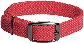 product image for Mendota Pet Double Braid Collar - Black Metallic - Dog Collar - Made in The USA - Red , 1 in x 21 in Standard