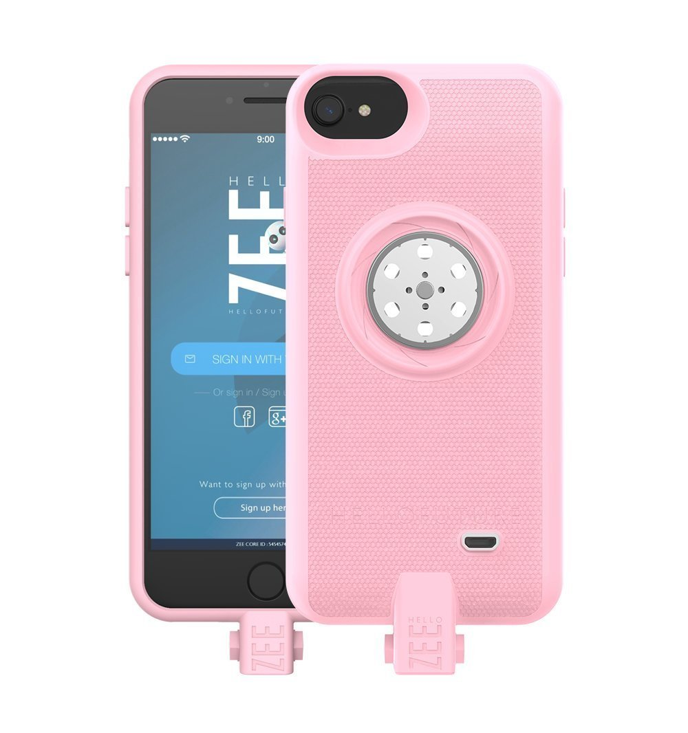 Battery case iPhone 6/6s/7/8- with Built-In 128GB Memory+Battery 2600mAh+Wireless Charging - Pink(Apple Certified) by HELLO ZEE (Image #1)