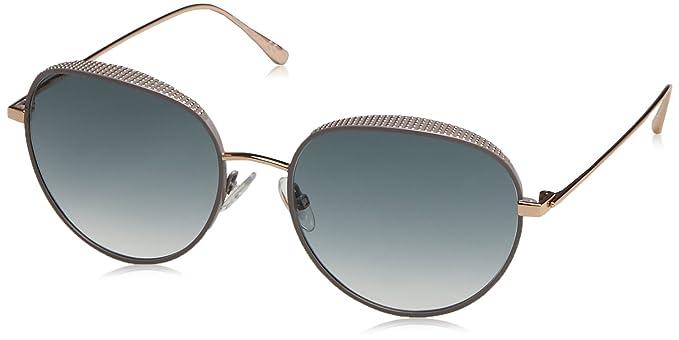 b28c611252e05 Image Unavailable. Image not available for. Colour  Jimmy Choo Ello S NOQ  Gold Ello S Round Sunglasses Lens ...