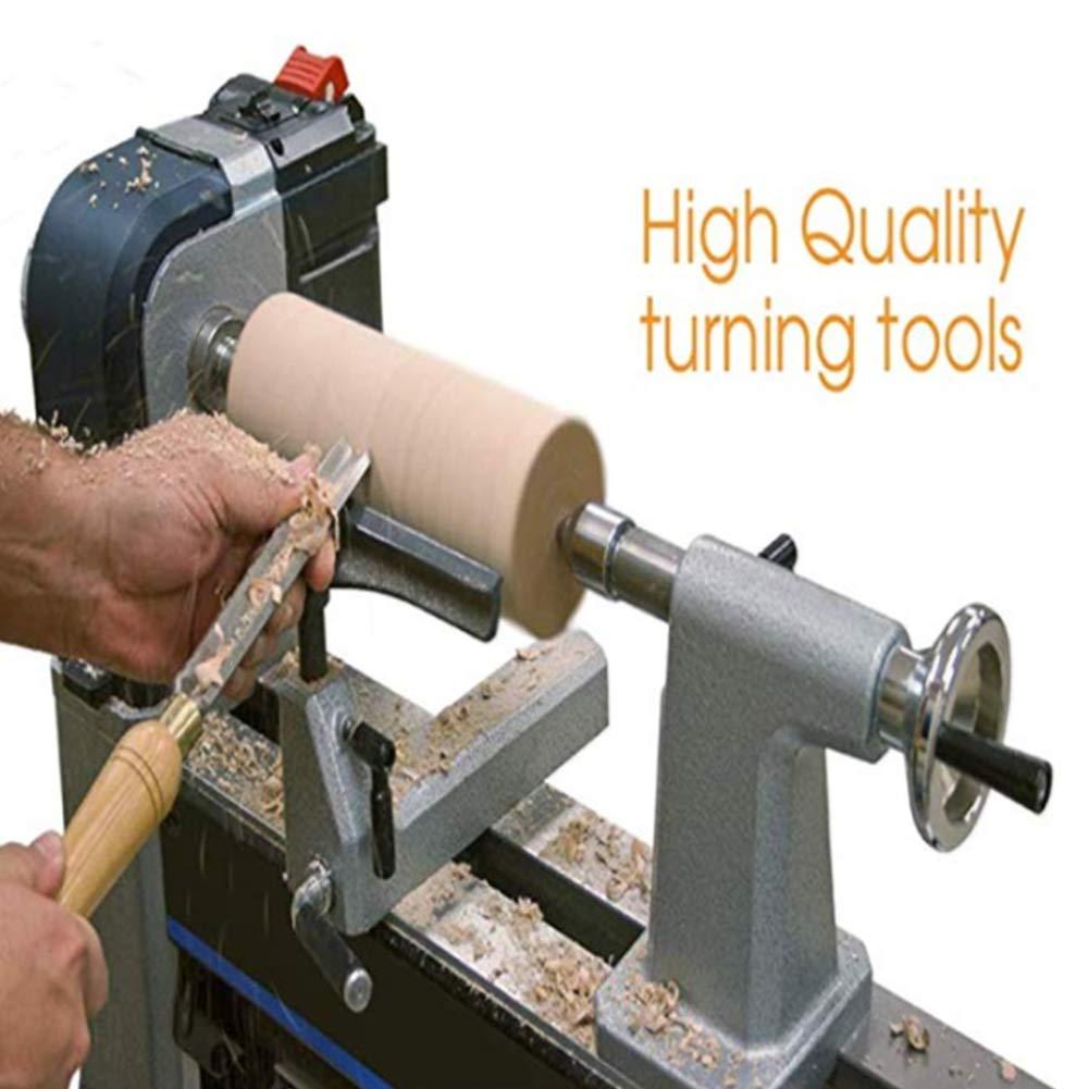 Ensemble de burin /à tour set de gouge /à cuvette tournante en bois avec poign/ées en bois dur en acier haute vitesse et bo/îte de rangement en bois r/éutilisable