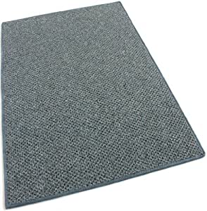 """7'x12' - Shale Gray - Indoor-Outdoor Graphic Loop 1/8"""" Thick 20 oz Area Rug Carpet"""
