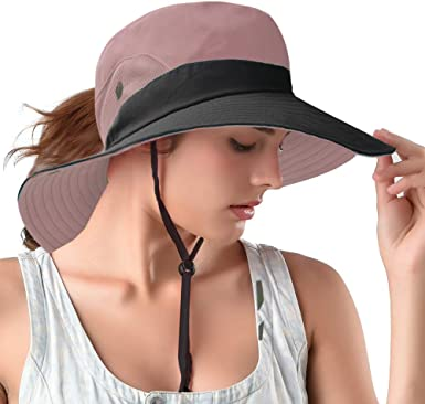 Sun UV Protection Hat/for Women Foldable Wide Brim Boonie Hats for Beach Fishing