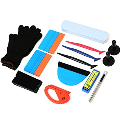 Wallpaper Smoothing Tool Kit, Multi-function 15 Pcs Tools Set for Wallpaper, Vehicle Vinyl Wrap Window Tint Tools Kit for Car Wrapping: Home Improvement