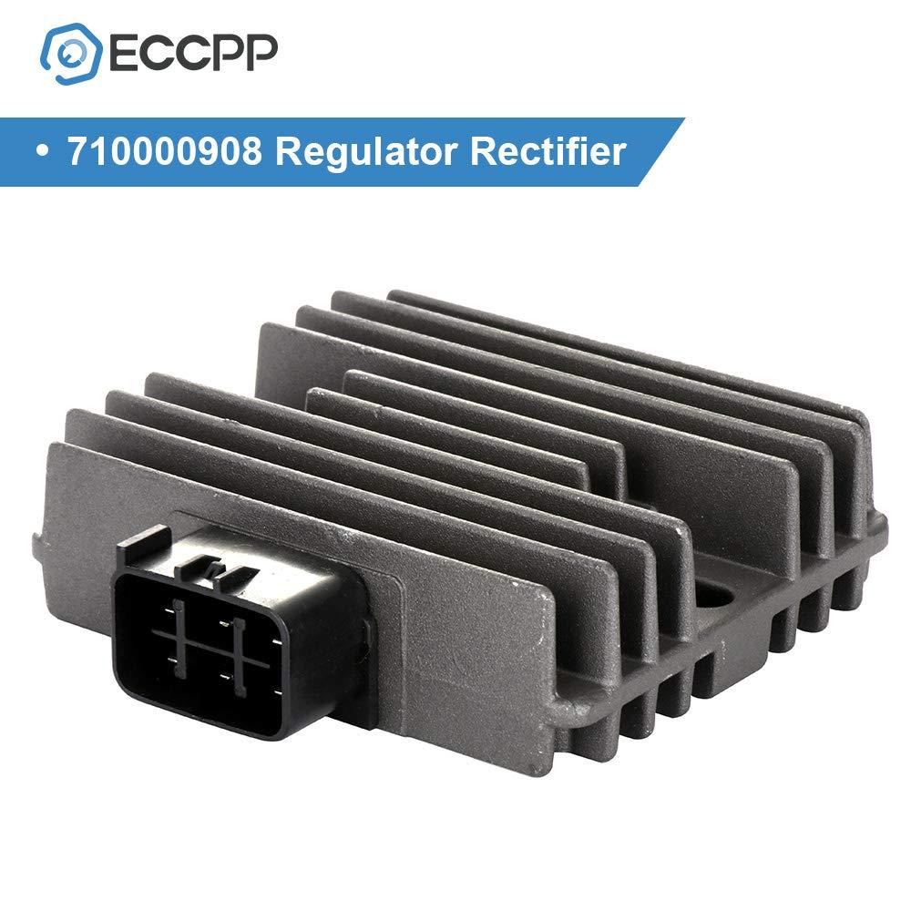ECCPP Voltage Regulator Rectifier Fit for 2010-2014 Arctic Cat 1000 2010-2011 2013 Arctic Cat 400 2010-2012 Arctic Cat 450 2013-2017 Arctic Cat 500 0824-020 710000908 Rectifier Regulator