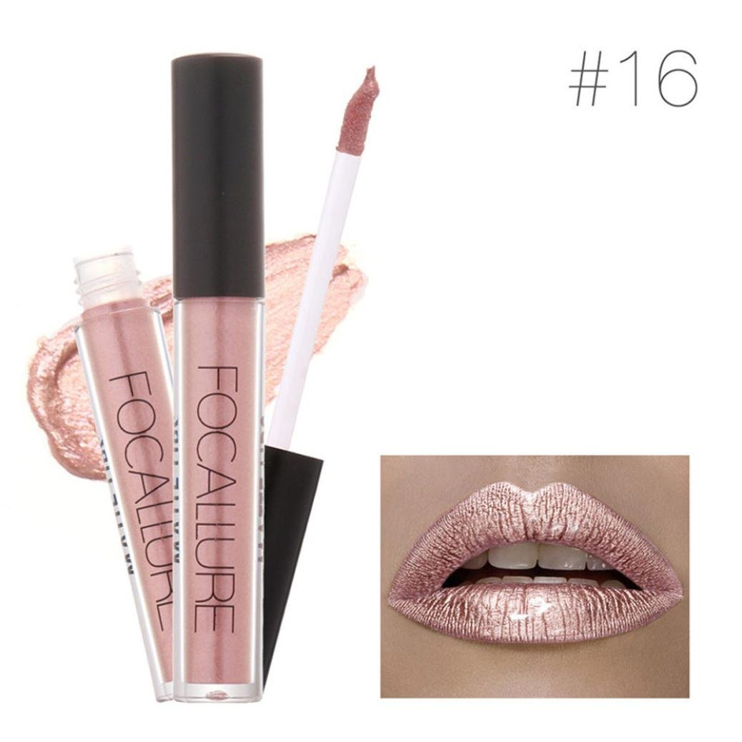 XEDUO FOCALLURE New Fashion Waterproof Long-Lasting Matte Liquid Lipstick Cosmetic Sexy Lip Gloss Kit for Women (16#)