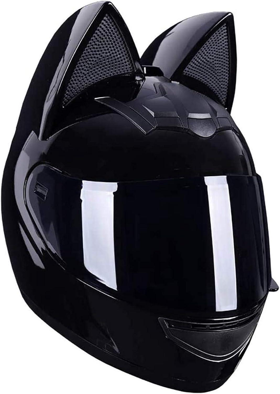 Full Face Motorradhelme Mit Katze Ohren Adult Flip Up Visiere Motocross Helm Motorrad Crash Modular Helmet Leichtbau Dot Certified Sport Freizeit