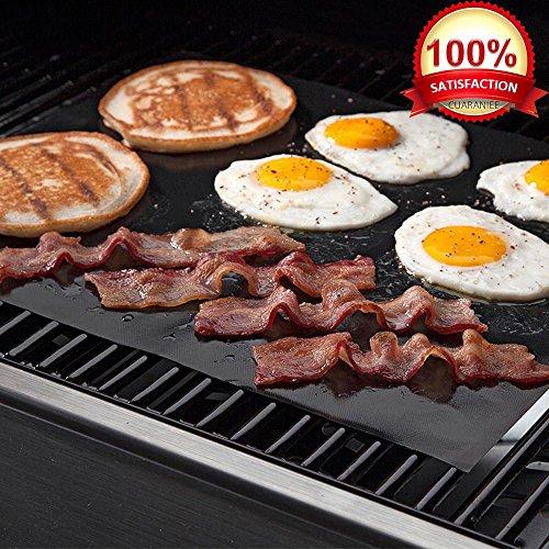 KOLPCTT Calidad Premium no-stick Baking Mat & Cookie Hoja–Teflón parrilla para barbacoa hoja/Mat, Negro (15.7 x 13)