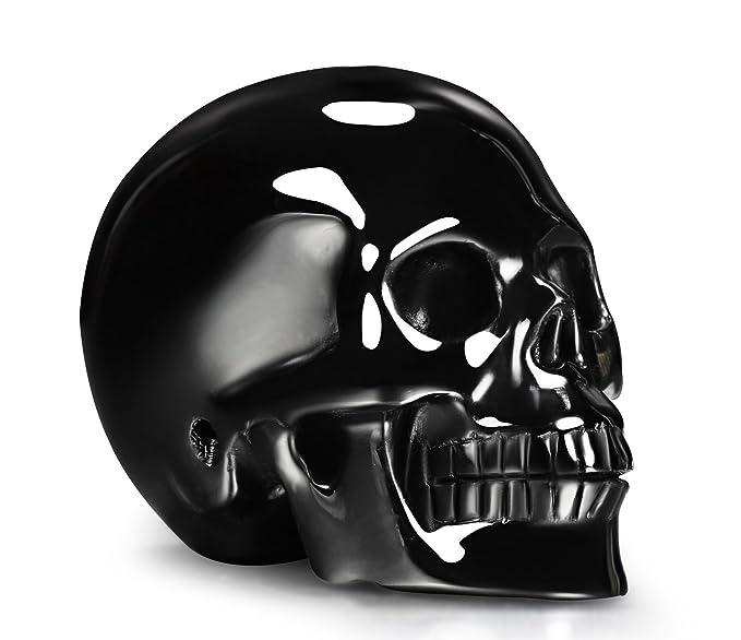 "Skullis 2.0 4.1"" Black Obsidian Crystal Skull, Hand Carved Crystal Healing Reiki Statue, Gemstone Skull Sculpture Fine Art. (2.0) by Skullis"