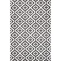 Summit S27 NEW MOROCCAN Gray Trellis RUG Modern Abstract Rug (2X7 ACTUAL IS 22X 83 HALL WAY RUNNER)