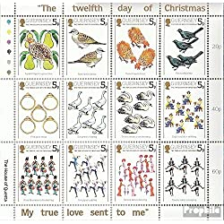 united kingdom-Guernsey 298-309 Sheetlet (complete. issue.) unmounted mint / never hinged 1984 the twelve o'clock christmas days (Stamps for collectors)