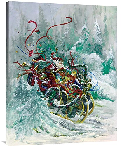 Global Gallery Budget GCS-119649-3040-142 Peggy Abrams Windswept Toys Gallery Wrap Giclee on Canvas Print Wall Art
