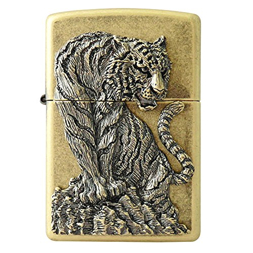 Zippo Tiger Hunter BRA Lighter / Genuine Authentic / Original Packing (6 Flints set Free Gift)