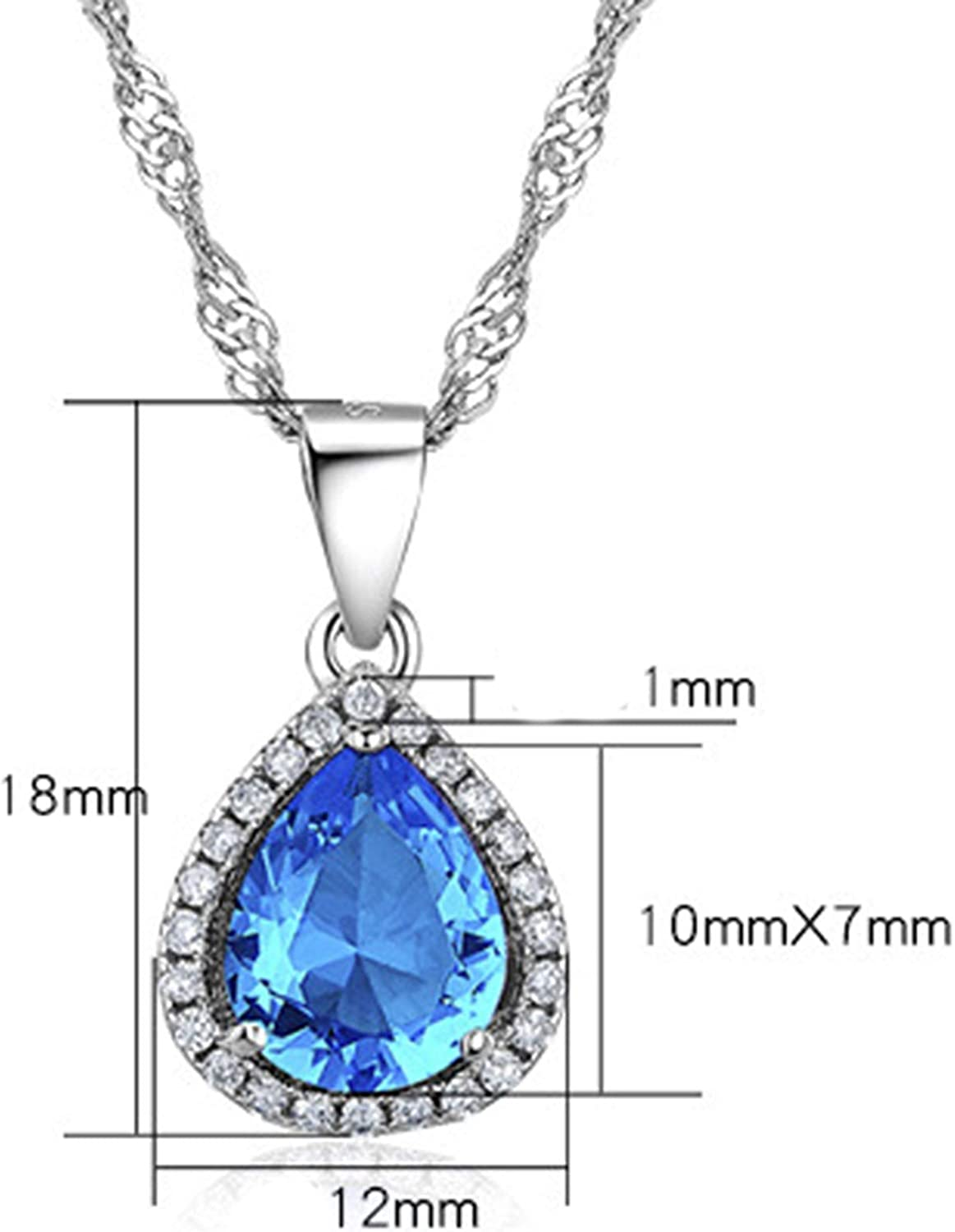 Daesar Gold Plated Womens Teardrop Cubic Zirconia Pendant Necklace for Women