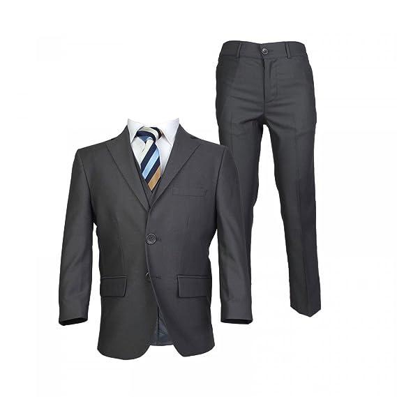 SIRRI Boys Charcoal Grey Suit Italian Cut Pageboy Wedding Prom Boys ...
