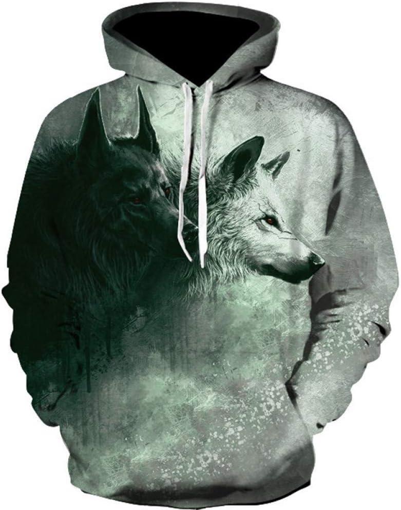 BAI Aassdd New Mens Printed Sweatshirt Langarm Pullover Drucken Sweatshirts Slim 3D Kapuzenpullover Herrenmode,* L ** L