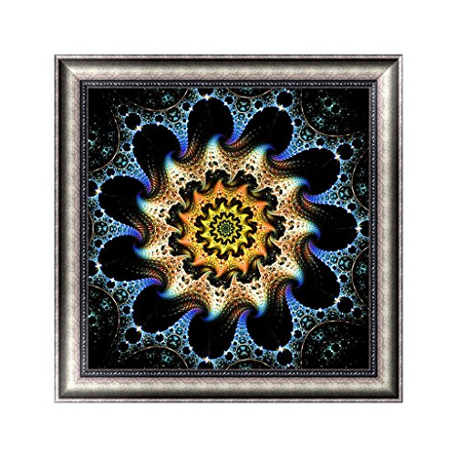 OHTOP Rotating Fantasy Geometric Flower Craft DIY 5D Diamond Painting Embroidery Cross Stitch Room Wall Decoration