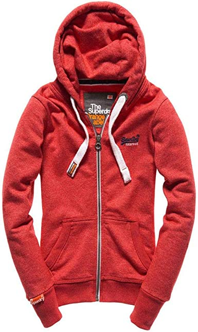 Superdry Sweat à Capuche Femme Rouge Écarlate Riche (Oei