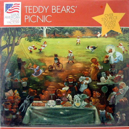 Teddy Bears' Picnic Over 550 Piece Jigsaw Puzzle