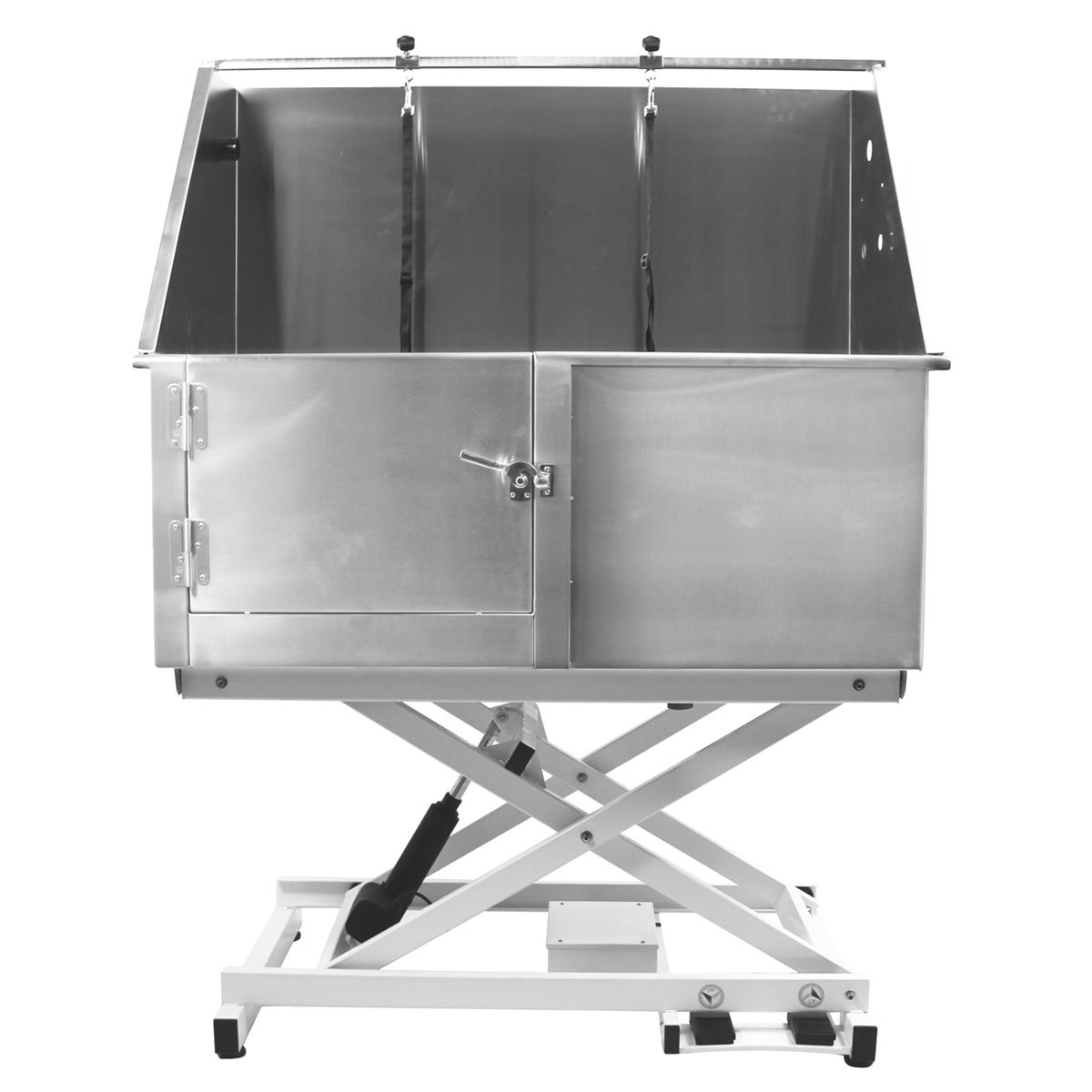 Flying Pig 50'' Stainless Steel Professional Electric Lift Pet Grooming Tub