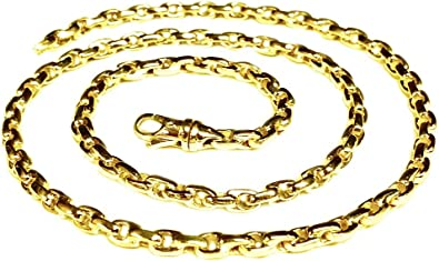 Strong Gold Chain Durable Gold Chain Real Gold Chain Soldi Gold Chain Solid 14K Gold Cable Rolo Pendant Chain Ladies 14K Gold Chain