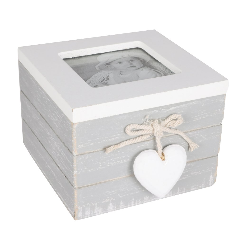 Beautiful Shabby Chic Wooden Photo Trinket Box! Amazing Gift Idea! Perfect for personalising with your own special image! Perfect for storing special trinkets, memories and accessories! H 8 cm x W 10 cm