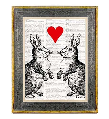 Amazon.com: Bunny Love - 8X10 Vintage Dictionary Art Print