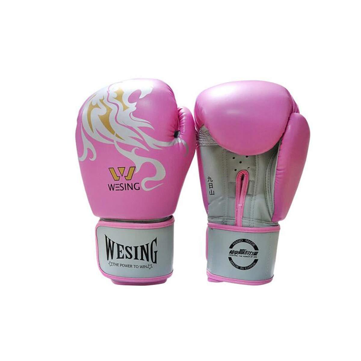 HXSD ボクシンググローブのり手袋サンダグローブムエタイの手袋サンドバッグ格闘技8-16オンス12オンス(2パック1組) 柔らかくて快適な手袋、 ピンク 12oz