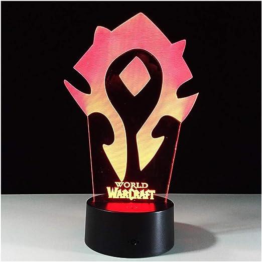 Lina Luces de la Noche de 3D Illusion, World Warcraft Lámparas de ...