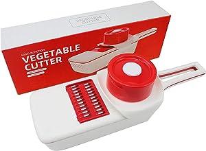 Mandoline-Pro Slicer Vegetable Slicer, Vegetable Grater, Cutter, Shredder Food Slicer 6-in-1 Vegetable Spiralizer Veggie Slicer with Built-in Blade Storage and Container