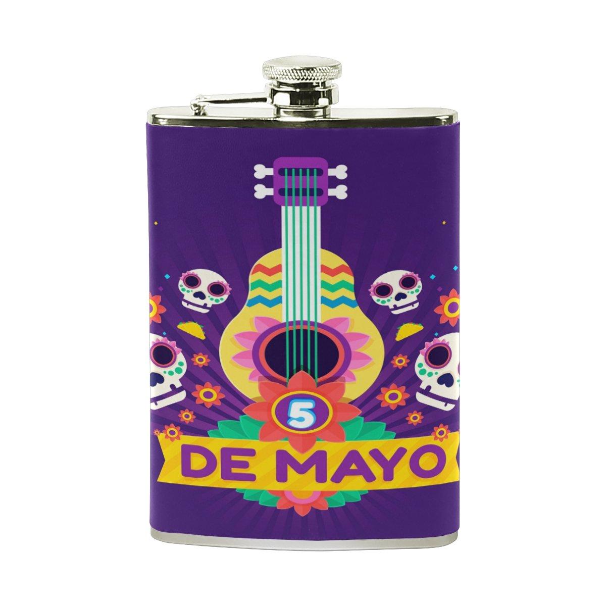 驚きの値段で シュガースカル音楽ヒップフラスコステンレススチールポケットボトルセットレザー男性女性Wrapped (H*L) Drinking Liquor Shot Drinking 15.6cm B07FTNSSZS*9.6cm (H*L) FENNEN-10 Select Color 1 B07FTNSSZS, アラカワムラ:edea8874 --- a0267596.xsph.ru