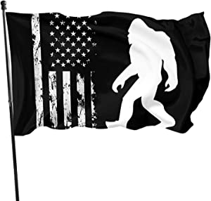 Bigfoot Savage Snowman Garden Flag 3 X 5 Ft Rich Color and Superior Fade & Fray Resistance for Indoor Outdoor