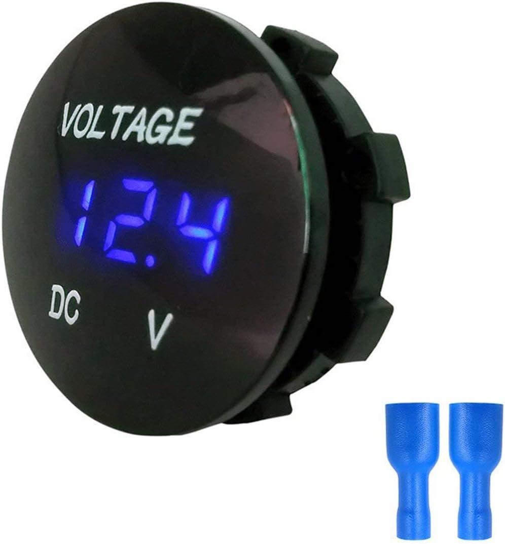 5-48V Digital Panel Voltmeter Electric Voltage Meter Volt Tester for Car Motorcycle Ship Waterproof Blue Transparent Style