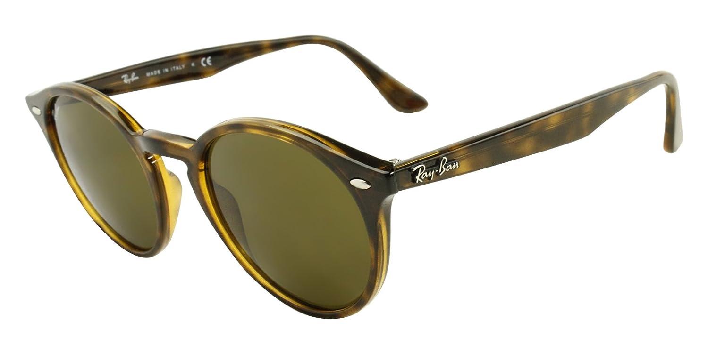 836fe215c85 Amazon.com  Ray-Ban RB2180 Unisex Round Sunglasses (Black Frame Grey Green  Lens 601 71