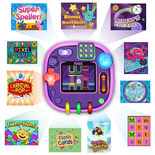 619DjOkqAsL - LeapFrog RockIt Twist Handheld Learning Game System, Purple